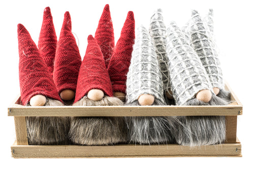Gnome Ornaments with red or gray hat