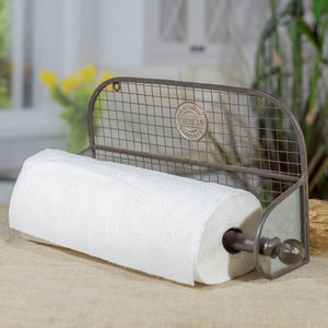 Industrial-inspired Metal Paper Towel Holder