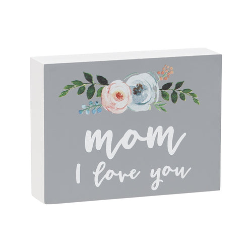 mom love block sign