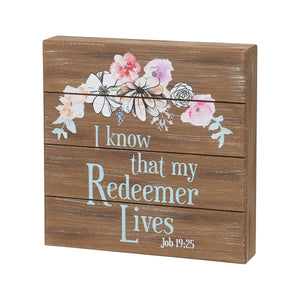 Redeemer lives pallet sign Easter decor