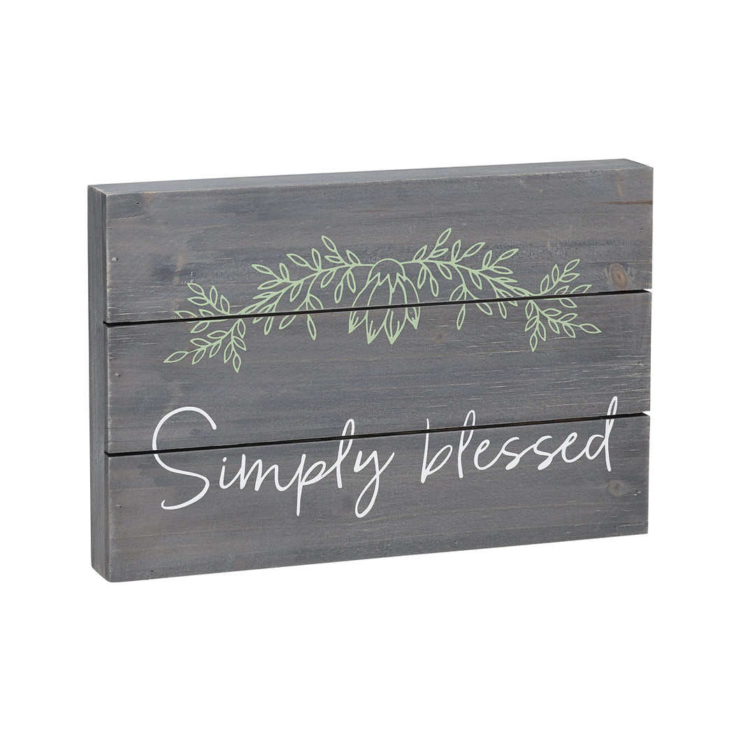 simply blessed pallet box sign