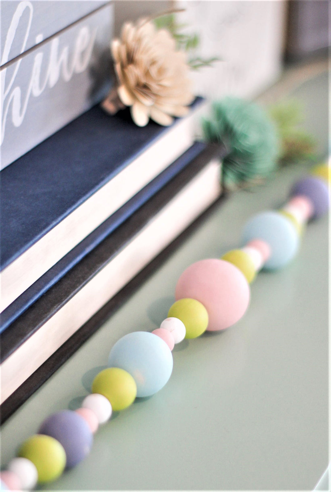 Spring Colors Bead Garland