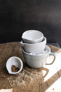 Stoneware batter bowl set