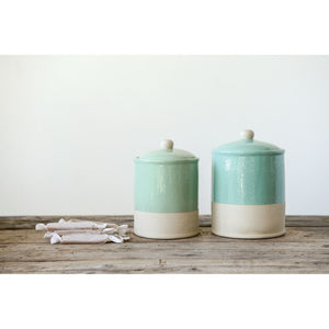 Stoneware Canister - Mint