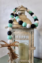 Load image into Gallery viewer, Summer coast wood bead garland in nauctial colors