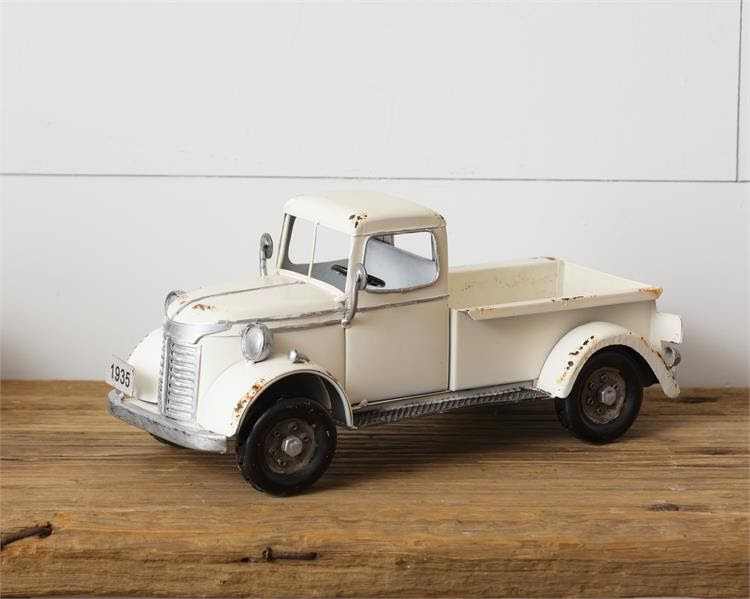 Antique White Truck-1935