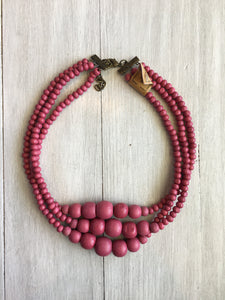"Necklace 16"" Wood Beads"