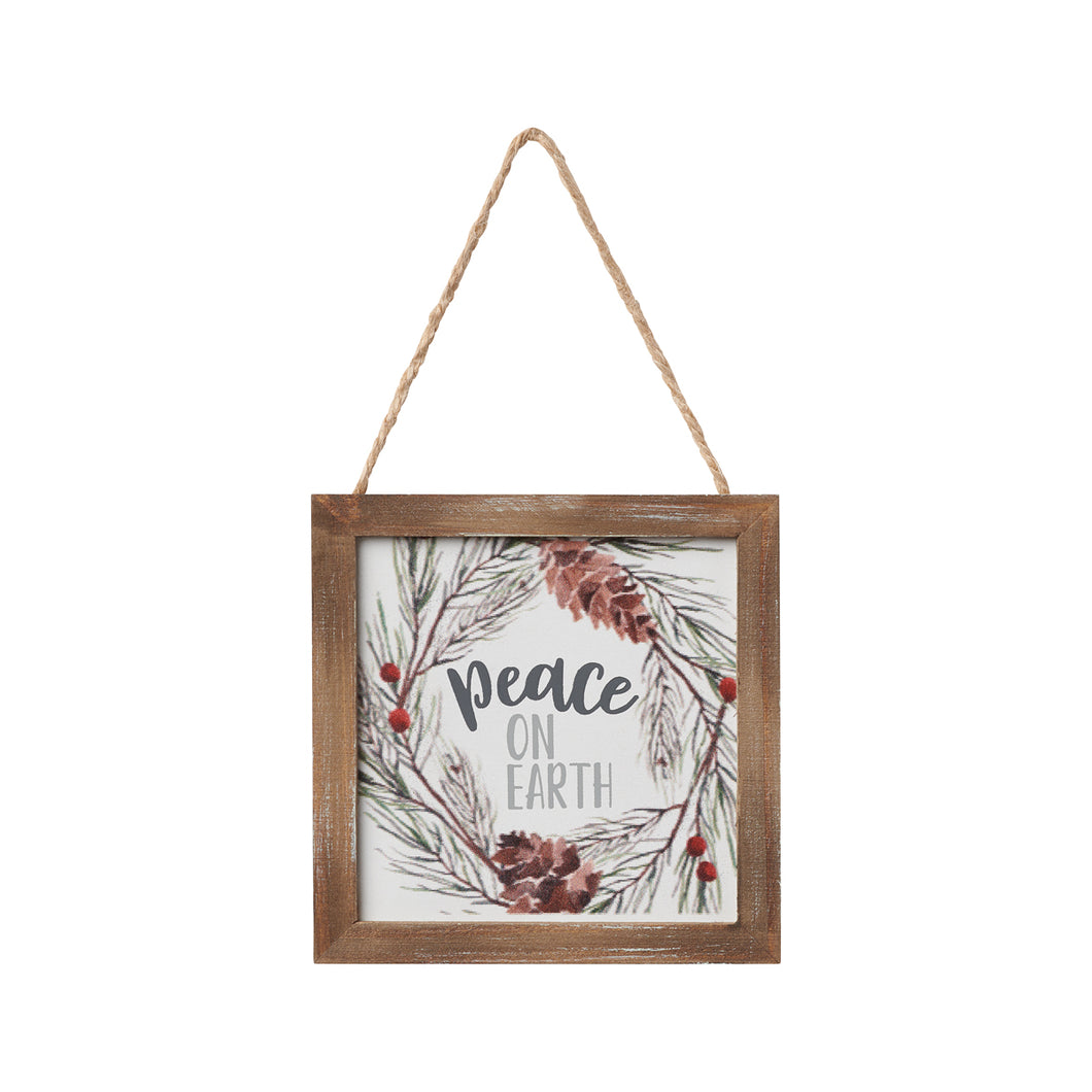 Peace on Earth framed ornament