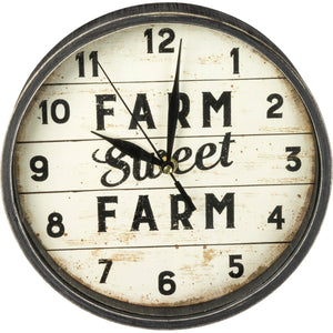 Wood Clock - Farm Sweet Farm