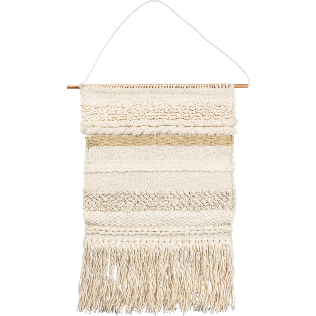 Odyssey woven wall hanging in earth tones