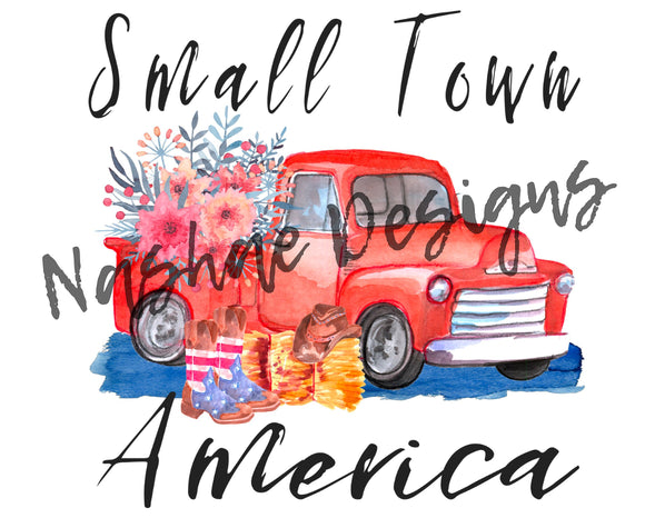 Small town America, sublimation transfer, mug design, shirt design, etsy, nashae designs, sublimation, transfer, patriotic, 4th of July