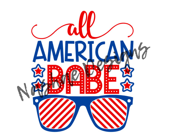All American babe, sublimation transfer, mug design, shirt design, etsy, nashae designs, sublimation, transfer, patriotic, 4th of July