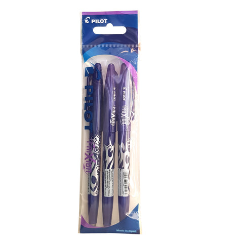 PILOT FRIXION ERASABLE ROLLER BALL PEN 3PCS