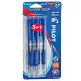 PILOT SUPERGRIP FINE 6PCS BLUE BPGP10RF