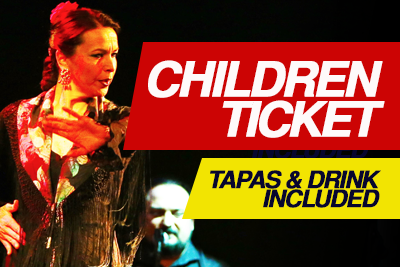 CHILDREN TICKET + DINNER for ages 5-10 (FREE for 0-5)