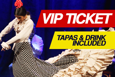 Flamenco Show. VIP Ticket. Tapas and drink included