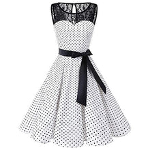 Load image into Gallery viewer, Vintage Polka Dotted YAS! Dress - The Lezbrarian