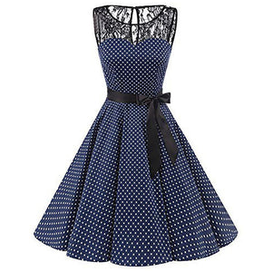 Vintage Polka Dotted YAS! Dress - The Lezbrarian