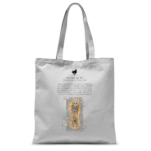Fact No. 317 - The Man in Grey Sublimation Tote Bag
