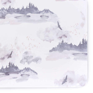 Oilo Misty Mountain Jersey Crib Sheet