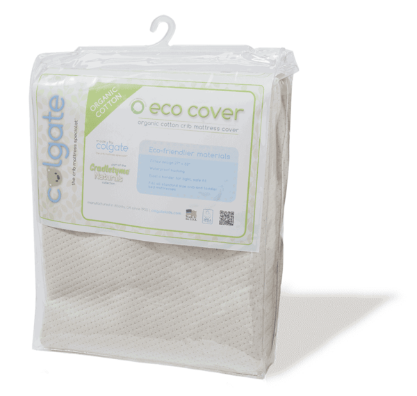Colgate Eco Cover Organic Cotton Fitted Crib Mattress Cover