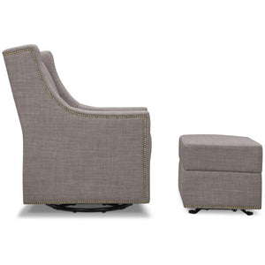 Million Dollar Baby Classic Harper Swivel Glider with Gliding Ottoman