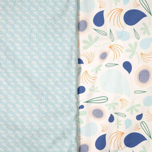 Babyletto Fleeting Flora 2-in-1 Play and Toddler Blanket