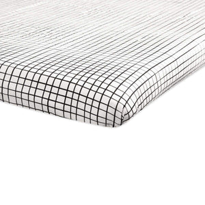 Babyletto Tuxedo Grid Mini Crib Sheet