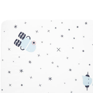 Babyletto Galaxy Floating Robots Fitted Crib Sheet