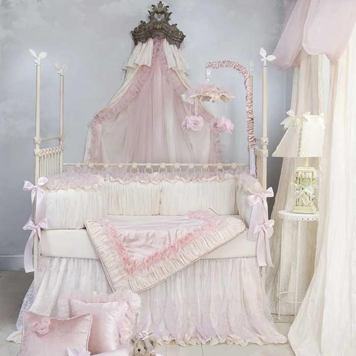 Glenna Jean Anastasia 4-Piece Bedding Set (Includes quilt, bumper, cream sheet & crib skirt)