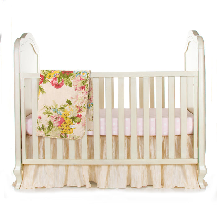 Glenna Jean Charlotte 3-Piece Bedding Set (Includes quilt, pink dot sheet & crib skirt)