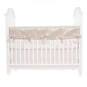 Glenna Jean Cottage Rose 4-Piece Bedding Set (Includes quilt, toile sheet, long rail guard & crib skirt)