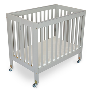 Fizzy 3 Position Mini Crib Grey