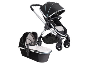 Icandy Peach Stroller - Beluga Black