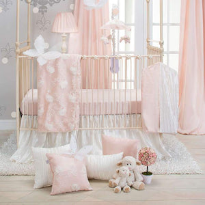 Glenna Jean Little Princess 4-Piece Bedding Set (Includes quilt, bumper, pink sheet and crib skirt)