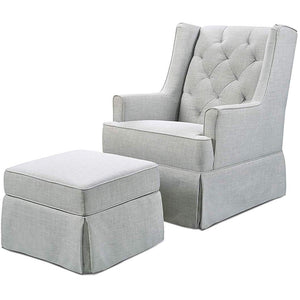 Million Dollar Baby Classic Sadie Swivel Glider with Storage Ottoman