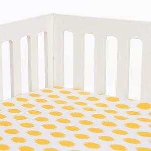 Glenna Jean Swizzle Yellow 2-Piece Starter Bedding Set (Includes yellow dot sheet & crib skirt)