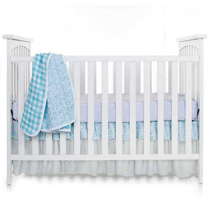 Glenna Jean Willow 3-Piece Bedding Set (Includes quilt, grey micro dot sheet & crib skirt)