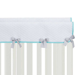 Glenna Jean Willow 4-Piece Bedding Set (Includes quilt, grey micro dot sheet, long rail guard & crib skirt)