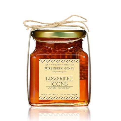 Navarino Icons Pure Greek Honey w/ Fresh Honeycomb