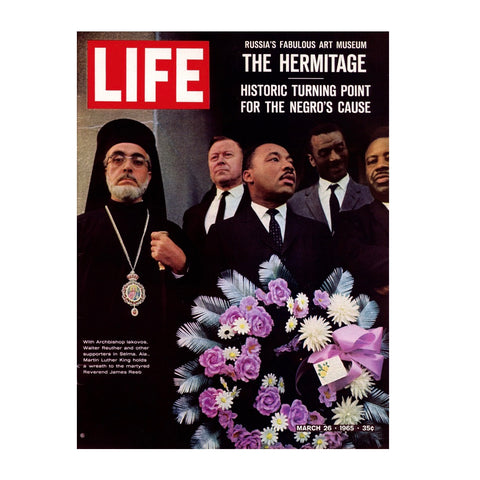 Life Magazine Martin Luther King and Archbishop Iakovos (March 26, 1965)