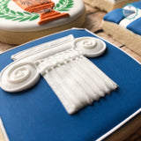 Hand Painted Greek Independence Day Cookies by Sugarista