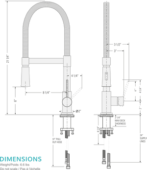 Sofi Kitchen Faucet - Brushed Nickel
