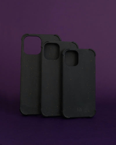 Plant-based Bumper iPhone Case - Black - Loop.