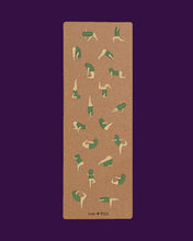 Load image into Gallery viewer, Cork Yoga Mat - Cactus Friends by Genavee Lazaro - Loop.