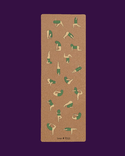 Loop. Cork Yoga Mat - Cactus Friends by Genavee Lazaro - Loop.