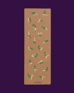Cork Yoga Mat - Cactus Friends by Genavee Lazaro - Loop.