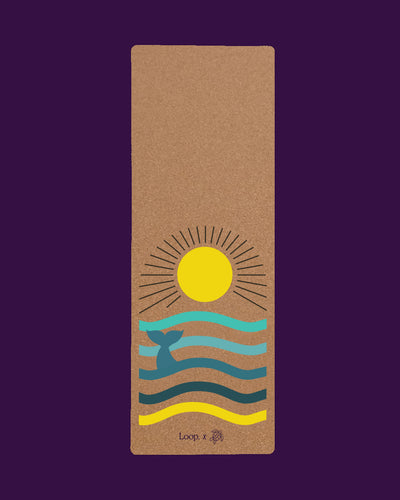 Loop. Cork Yoga Mat - Sun Salutocean by Save Philippine Seas - Loop.
