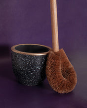 Load image into Gallery viewer, Coconut Husk Toilet Brush Set - Black Holder