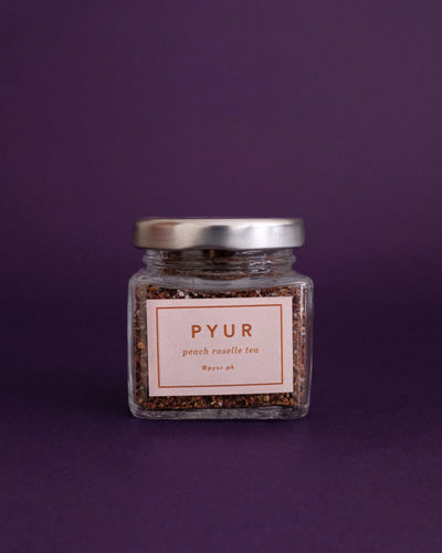 Pyur Tea Loose Leaf Tea - Peach Roselle (30g) - Loop.